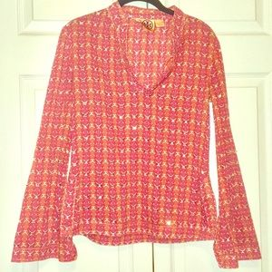 Tory Burch long sleeved 100% cotton blouse
